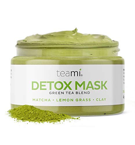Teami Green Tea Matcha Detox Face Mask Deep Pore Cleansing & Hydrating Blackhead Remover Mud Mask With Bentonite Clay, Facial Masks Best For Acne, Blackheads, Wrinkles, Pore Minimizer, Anti Aging