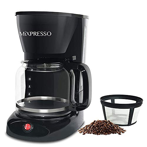 12 Cup Drip Coffee Maker, Coffee Pot Machine Including Reusable And Removable Coffee Filter, The Best Coffee Maker Filterless By Mixpresso