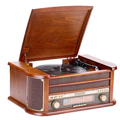 Arch Turntable With Speakers,record Player Vinyl,phonograph Supports Vinyl Playback/cd Playback/am/fm/usb Playback/audio Input/audio Output/sd Card Playback,best Gift
