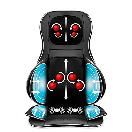Best Choice Products Air Compression Shiatsu Neck Back Massager Seat Chair Pad Massage Cushion, 2d/3d Kneading With Heat, Rolling & Spot Massage For Full Body Pain Relief