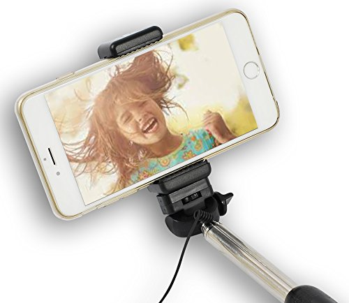 Best Monopod Cable Selfie Stick – Wired, Battery Free Selfie Pro Pole Fast Response Built In Shutter – Extendable And For Your Smartphone Or Camera, Iphone Or Android – Full!