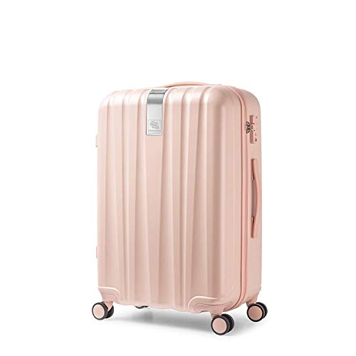 """Best Spinner Luggage Suitcase Pc Trolley Case Travel Bag Rolling Wheel Carry On Boarding Men Women Luggage Trip Journey H80002,light Pink,24"""""""