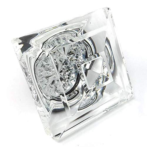 Exceptional Princess Diamond Cut Crystal French Door Knobs When Only The Very Best Will Do. Mounts To Any Solid Surface With 3 Screws.(brushed Nickel)