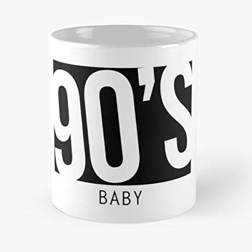 Hipster 90s Baby Millennial Player 90 Mp3 Child Cd The Best 11oz White Marble Ceramic Coffee Mug