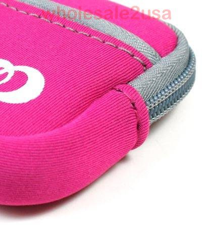 Hot Pink Mini Sleeve Pouch Bag For Nikon Coolpix S570 Digital Camera Pink {+ 1pc Name Tag} Best Seller On Amazon!