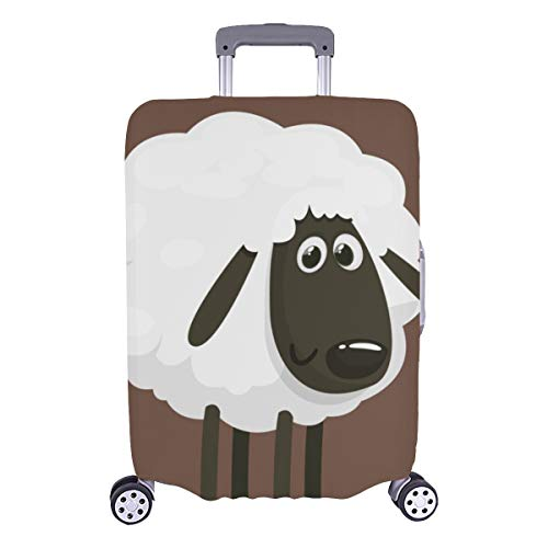 Luggage Covers For Men Cute White Animals Little Sheep Durable Washable Protecor Cover Fits 28.5 X 20.5 Inch Hard Cover Baggage Best Luggage Cover Suitcase Case Protector