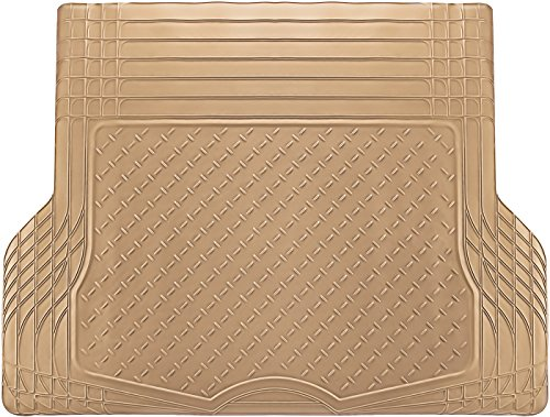 Oxgord All Weather Rubber Cargo Liner Floor Mat Waterproof Trunk Protector/cover For Rear Best For Rough Luggage, Dog, Pets, Spills, Car, Suv, Minivan, Truck, Beige