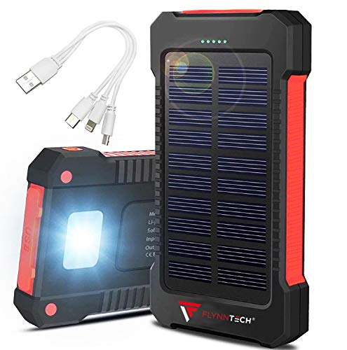 Portable Solar Charger Solar Powerbank – Portable 10,000mah Charger Best Waterproof Solar Charger For Phones, Usb Devices, Tablets & Mp3 Players For Indoor & Outdoor Use Compass Inc