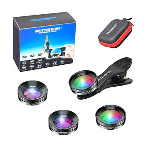 Shuttermoon Pro Camera Lenses Universal Attachments 20xmacro Lens+kaleidoscope Lens+star Filter Lens For Iphone/smartphone/android/samsung/pixel/oneplus Camera Phone Best Hdlenses For Phone (pro3 In1)