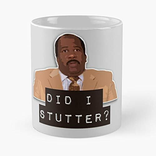 Stutter I Hudson Show Office Comedy Did Series The Tv Stanley Best 11 Ounce Ceramic Mug Classic Mug For Coffee, Tea, Chocolate Or Latte