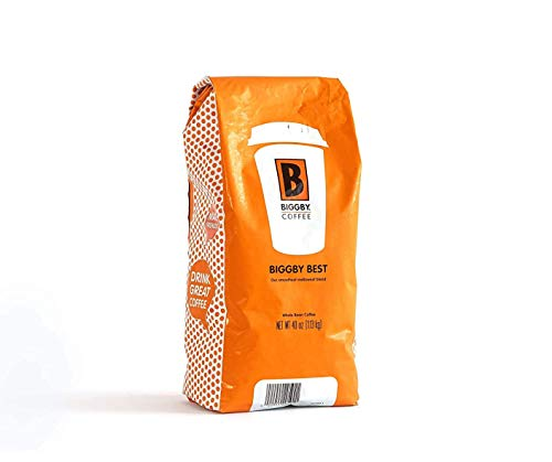 Whole Bean Coffee By Biggby Coffee | Medium Roast Biggby Best Flavor 40oz Bag | Columbian Coffee Beans Bagged In Usa | Roasted Coffee Beans Perfect For: Coffee Maker, Pour Over, & French Press