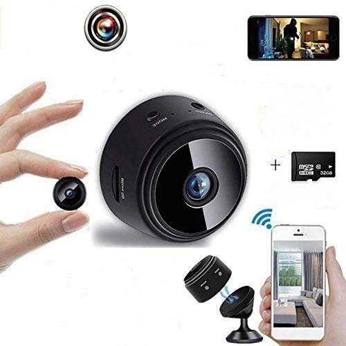 Wifi Camera Mini Wireless 1080p Hd Camera With 32g Sd Card, Portable Home Nanny Camera, The Best Home Security Camera, With Safe Motion Detection Function, Suitable For Family Run Company Cars, Etc.