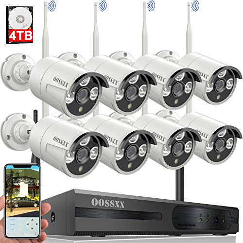Wireless Security Camera System,oossxx 8 Channel Nvr Hd 1080p Home Surveillance Wifi Cameras Systems With 4tb Hard Drive,best Wireless Remote Dvr Kits For Small Business