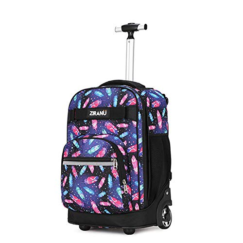 Xwws Wheeled Backpack 2 In 1 Starry Sky Trolley Schoolbag, Waterproof Large Capacity Suitcase, Best Gift For Children,a