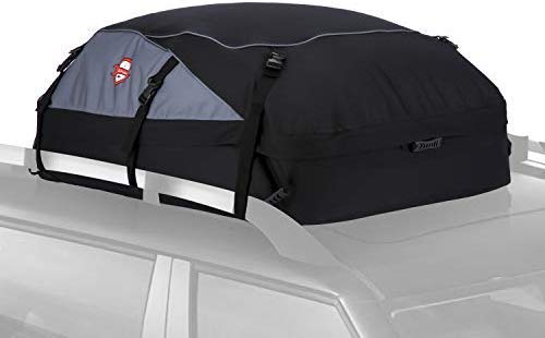 Znrong 20 Cubic Feet Waterproof Car Top Carrier Roof Cargo Bag Box Easy To Install Soft Rooftop Luggage Carriers With Wide Straps, Best For Traveling, Cars, Vans, Suvs (51 39 17 Inch)